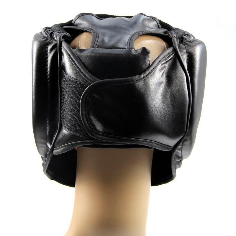 Черный Хороший шлем для тренировки головы, защита для кикбоксинга