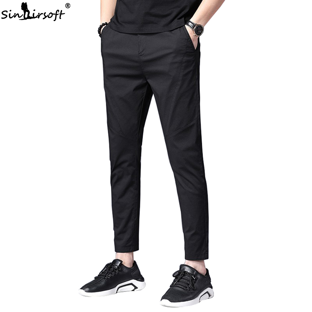 Ankle Length Causal Harem Casual Pants Trousers Men Male Solid Slim Straight Business Classic Man Trouser Pantalon Homme Hombre