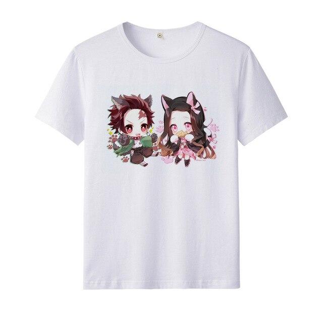 Démon Slayer enfants T-shirts filles hauts T-shirts enfants vêtements cadeau enfant T-shirt pour garçons Kimetsu No Yaiba