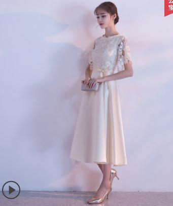 Banquet Evening Dress Women's 2019 New Style Spring Summer Debutante Party Host Dress Small Dress Short