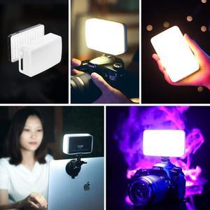 Image 5 - VIJIM Dimmbare LED Video Licht auf Kamera Smartphone Vlog Füllen Licht RGB Wirkung Farbe Gel Licht für Sony A6400 A6300 canon Nikon
