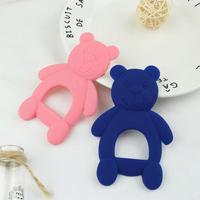 Hot Sale Silicone Baby Teethers Cute Bear Shape Kids Teethers Safety Children Teething Infants Chewing Toys  Newborn Dental Care