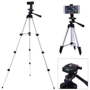 ALLOET 106cm przenośny aparat cyfrowy DSLR telefon statyw stojak z telefonu komórkowego klip uchwyt statyw dla iPhone XS X 7 6S 6 Plus 5s