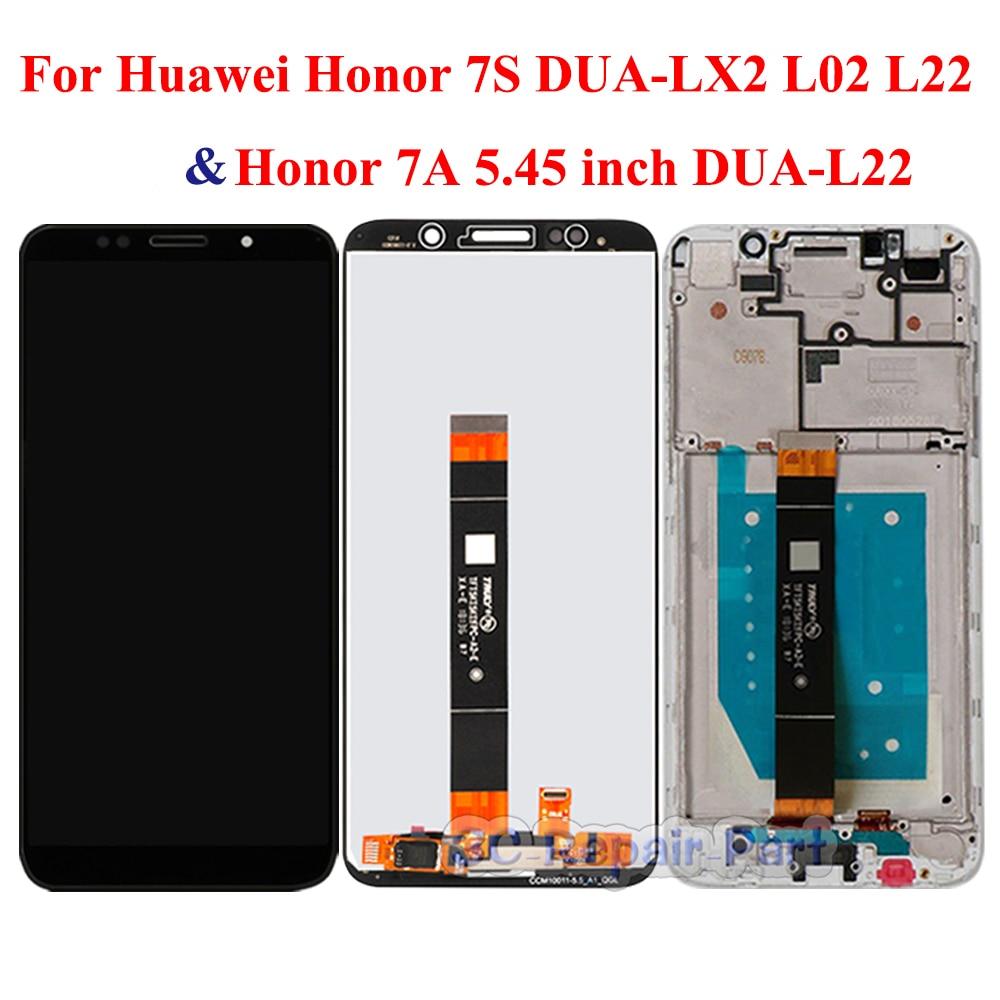 Дисплей для Huawei Honor 7A диагональю 5,45 дюйма, зеркальный ЖК дисплей с сенсорным экраном, замена для Honor 7S, зеркальный ЖК дисплей с рамкой, версия для России|Экраны для мобильных телефонов|   | АлиЭкспресс