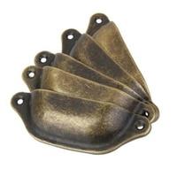 10 pçs de bronze antigo do vintage rústico copo puxar armário porta gaveta móveis puxador da porta puxadores botão