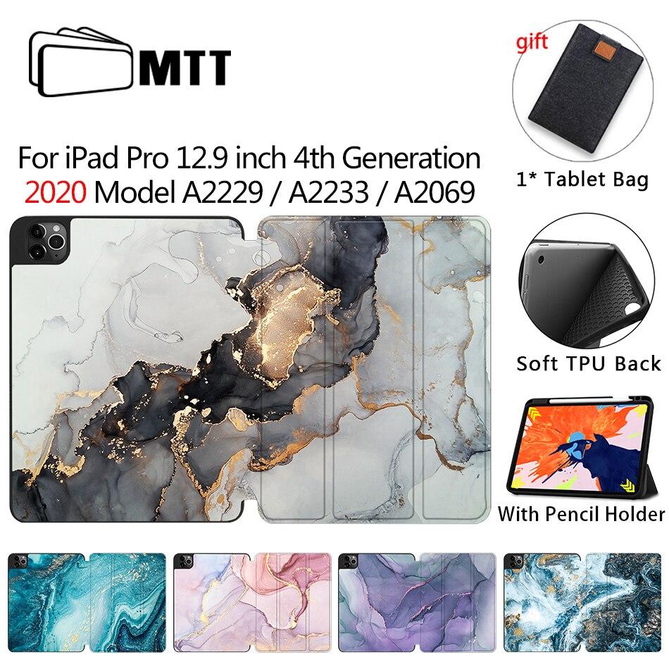 MTT 2020 Tablet Case For iPad Pro 12 9 4th Gen A2229 A2233 Soft TPU PU