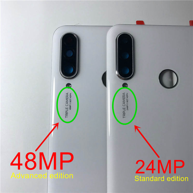 For Huawei P30 Lite Back Battery Cover Nova 4e Rear Glass Door Panel Case For Huawei P30 Lite Battery Cover+Camera Lens Replace 3
