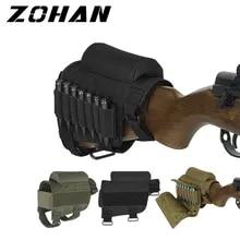 Rifle Shotgun Tactical Buttstock Cheek Rest Shooting PadCartridgeHolder Pouch~PL