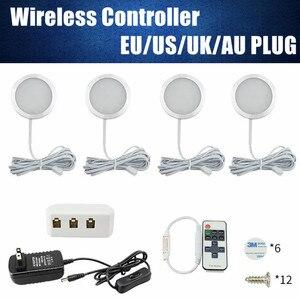 4PCS Caravan Camper Trailer Light Wireless Controller RV Van Caravan Camping Accessories Interior Lighting LED Ceiling Light 12V