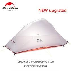 Naturehike Nube Up Serie 123 Aggiornato Tenda di Campeggio Esterna Impermeabile Tenda Trekking 20D 210T Nylon Zaino In Spalla Tenda Con Trasporto zerbino