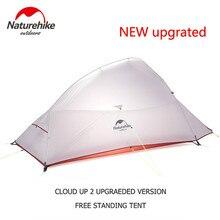 Naturehike nuvem up serie 123 atualizado barraca de acampamento à prova d20água ao ar livre caminhadas tenda 20d 210t náilon mochila tenda com esteira livre