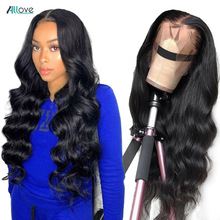 Allove Body Wave Lace Front Wig Brazilian Lace Front Human Hair Wigs Pre Plucked 4X4 Closure Wig 13X6X1 Lace Part Wig Human Hair