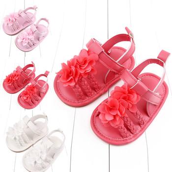 Chłopięca kokardka dziewczęca sandały miękka antypoślizgowa gumowa podeszwa letnia moda buty na płaskim obcasie dziecięce buty dziewczęce Buciki Dla Niemowlat tanie i dobre opinie CN (pochodzenie) Lato W wieku 0-6m 7-12m 13-24m 11cm 12cm 13cm Dziecko dla obu płci baby Płaskie z RUBBER Dobrze pasuje do rozmiaru wybierz swój normalny rozmiar