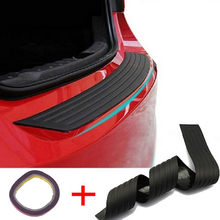Автомобильный багажник задний бампер полоски против царапин Универсальная автомобильная Черная задняя накладка на бампер защитная пластина резиновый чехол оградительная защита коврик