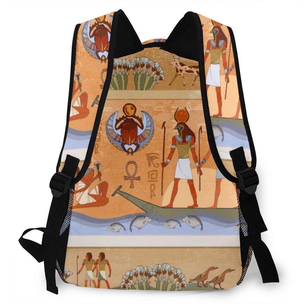 egípcios e faraó mural feminino notebook bagpack mochila de viagem 2020