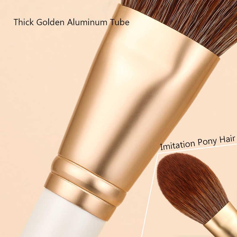 Pincéis de Maquiagem Zoreya Marca 15 pcs Branco Super Macio Fibra Marcador Olho Sombra Em Pó Cosméticos Definir maquiagem pincel Sintético