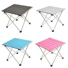 Портативный Складной Алюминиевый рулонный стол легкий Открытый Кемпинг Пикник простая мебель кемпинг стол чайный стол