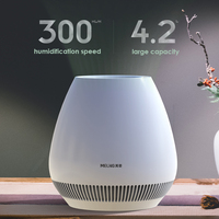 MH A10 No Mist Air Humidifier Household Anion Air Purifier 220V Electric Water Diffuser Aromatherapy 4.2L 8H Timing LED Display
