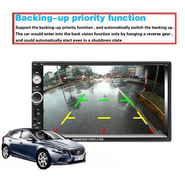 "Podofo 2 din Car Radio 7"" HD Autoradio Multimedia Player 2DIN Touch Screen Auto audio Car Stereo MP5 Bluetooth USB TF FM Camera 1"