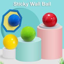 Палка стена мяч декомпрессия мяч липкий сквош мяч всасывание декомпрессия игрушка липкий мишень мяч ловушка бросок мяч дети игрушки