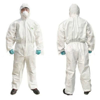 Disposable Coverall Hazmat PPE Suit Dust free Factory Workshop Protective Clothing Hospital Health Protection Safety Clothing disposable protective clothing waterproof coverall industrial epidemic spray pesticide chemical protection asbestos work jacke