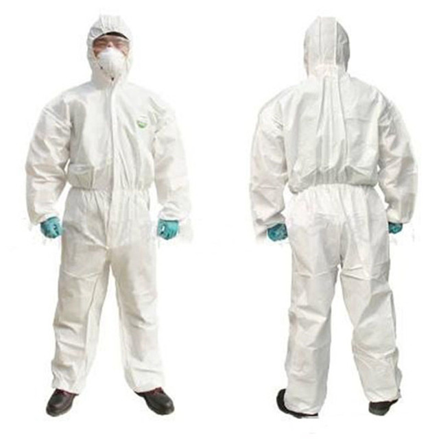 Disposable Coverall Hazmat PPE Suit Dust free Factory Workshop Protective Clothing Hospital Health Protection Safety Clothing