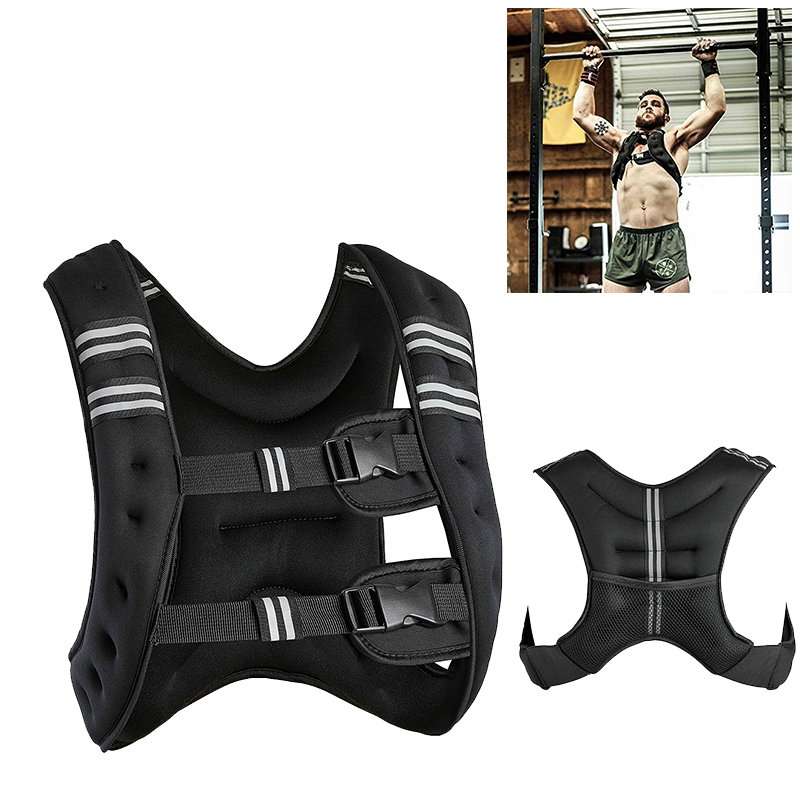 10kg Load Weight Adjustable Aggravated Vest Jacket Outdoor Sport Boxing Training Workout Fitness Equipment Waistcoat Sand HWC