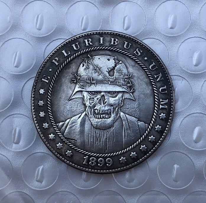 Американский Морган Хобо монета зомби для монет Монета с черепом производителя