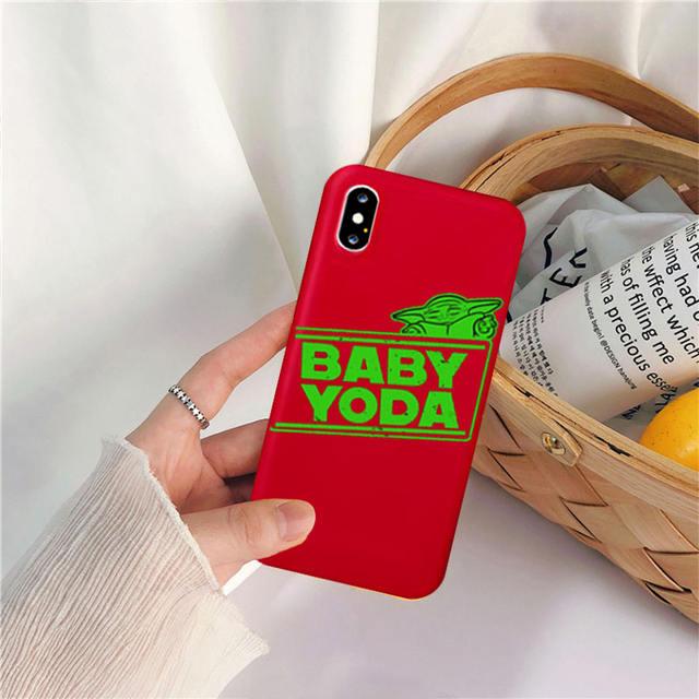 CUTE BABY YODA THEMED IPHONE CASE (19 VARIAN)