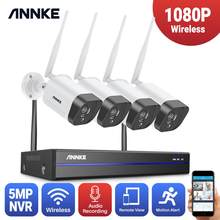 ANNKE 2MP 1080P CCTV System 8CH HD Wireless NVR Kit 4pcs IP66 Waterproof IR Night Vision IP Wifi Camera Security System CCTV Kit