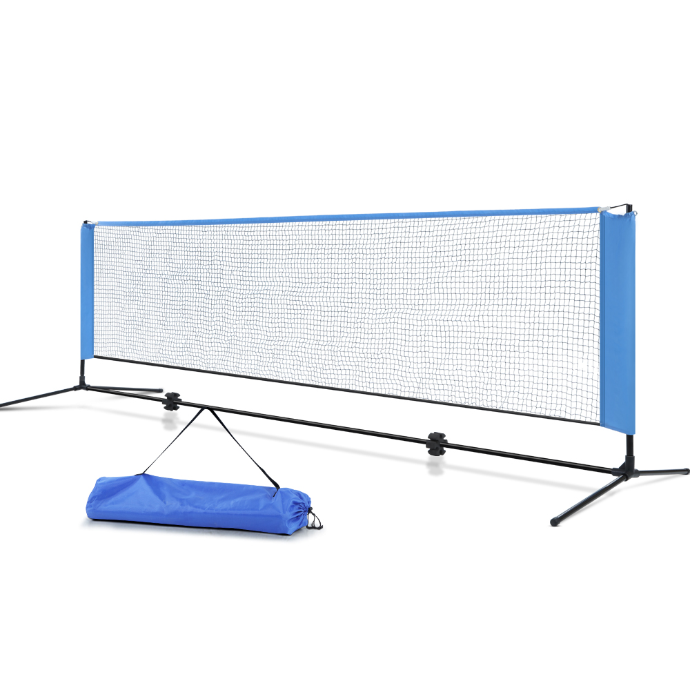Everfit Portable Sports Net Stand Badminton Volleyball Tennis Soccer 3m 3ft Blue PN-M001-3M-BL