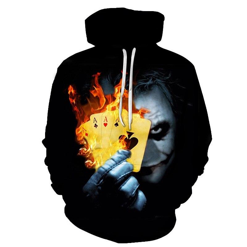 Suicide Squad Joker 3D Hoodies Sweatshirts Men Brand Tracksuits Printed Pullover Hooded Coat Funny Hoody Casual Streetwear Male