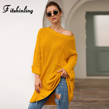 Fitshinling Pocket Oversized Sweaters Winter Women Clothing Batwing Sleeve Loose Pullovers Boho Long Jumper Sweater Ladies Pull