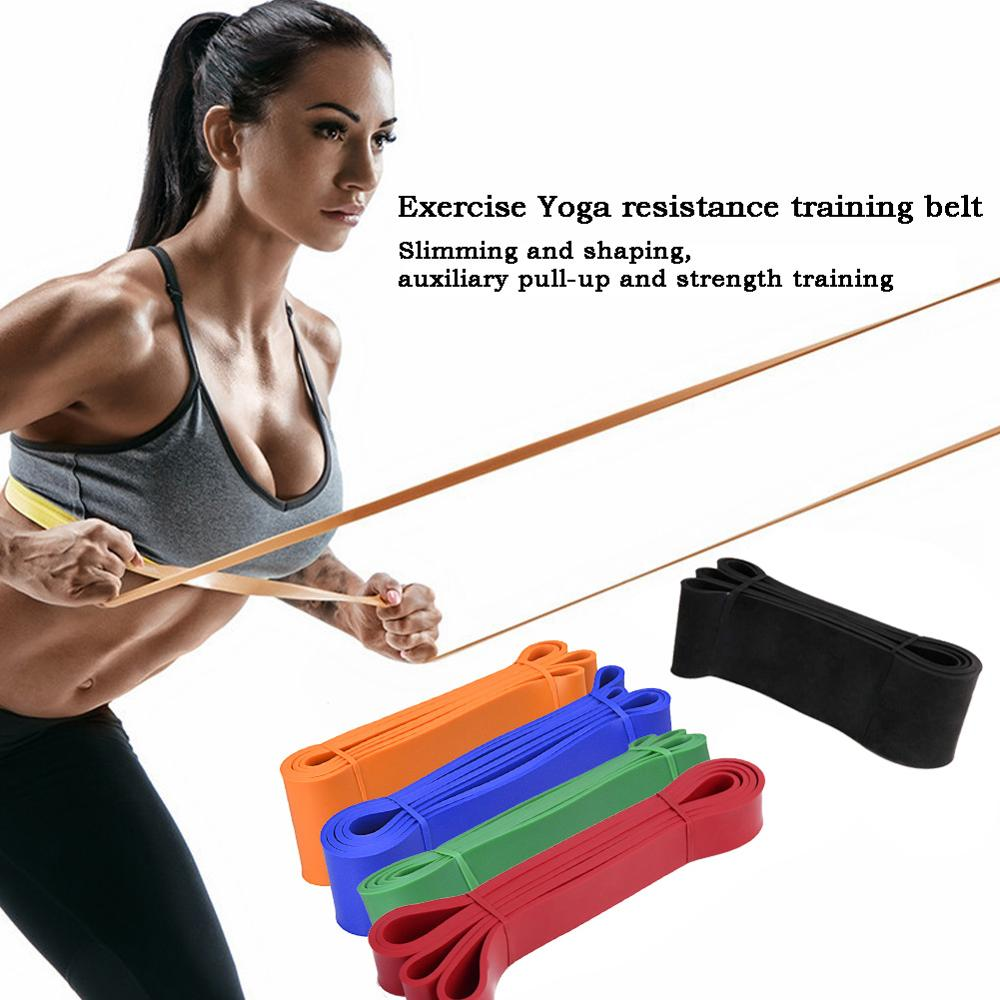 1 pack Fitness Resistance Band Rubber Yoga Stretch Band Gym Training Resistance Band Home Fitness Equipment