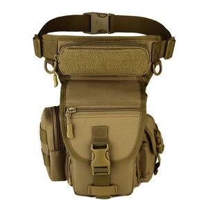 Image 3 - Men Waterproof Nylon Drop Leg Bag Fanny Waist Pack Thigh Belt Hip Bum Military Tactical for Travel Motorcycle Riding