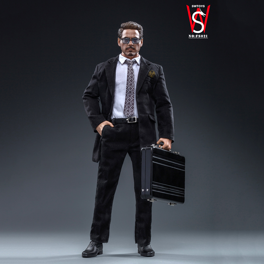 Full Set Action Figure Model Toy For Collection 1/6 SWtoys Tony Stark Suit With Head & Body FS021 FOR Fans Gift