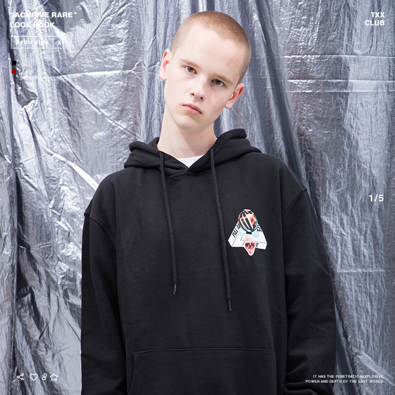 Palace Life 18 Popular Brand Autumn And Winter New Style Men'S Wear Classic Triangular Cobra MEN'S Hoodie
