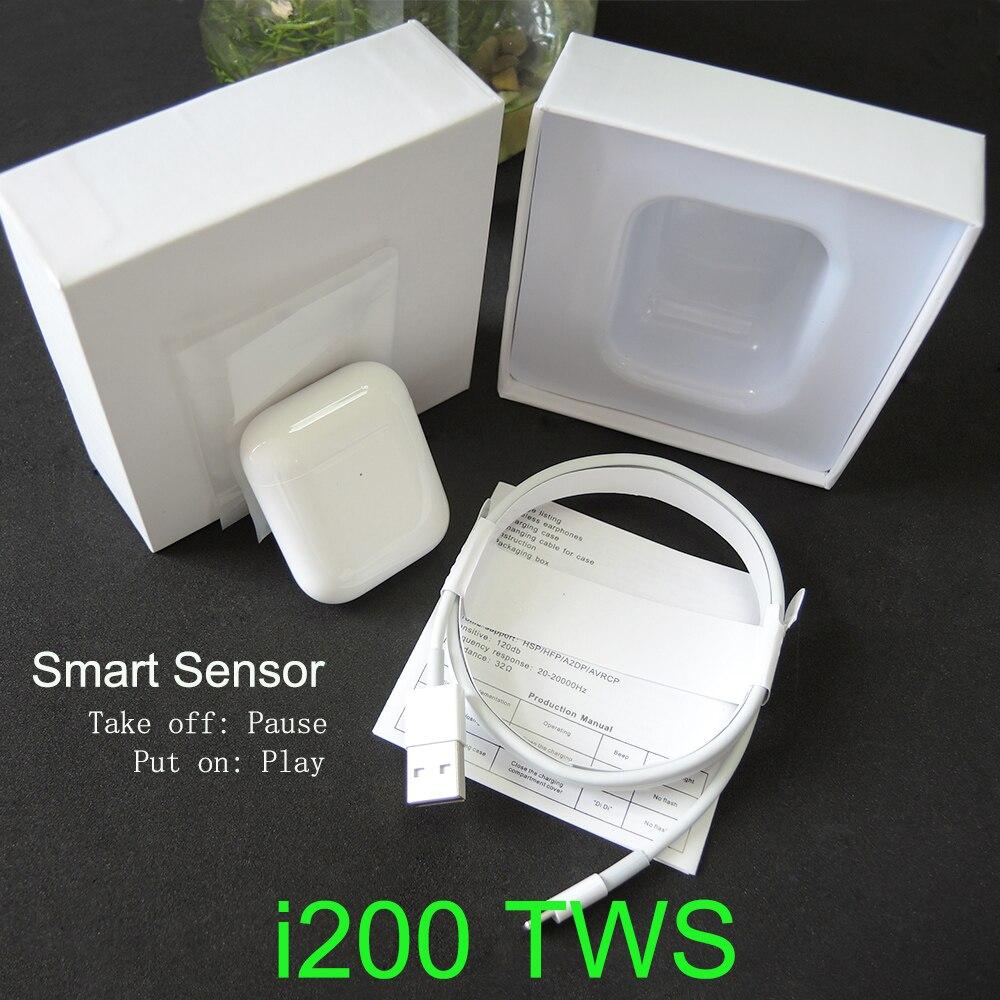 Écouteurs bluetooth d'origine i200 tws PK W1 H1 capteur intelligent contrôle du robinet écouteurs de charge sans fil PK i10 i12 i30 i60 i500 i100 TWS