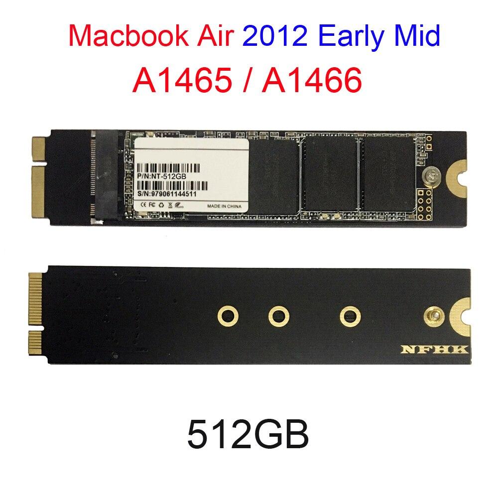 512GB pour 2012 début milieu Macbook Air A1466 A1465 SSD Md223 Md224 Md231 Md232 lecteur à semi-conducteurs 512G Mac Air SSD