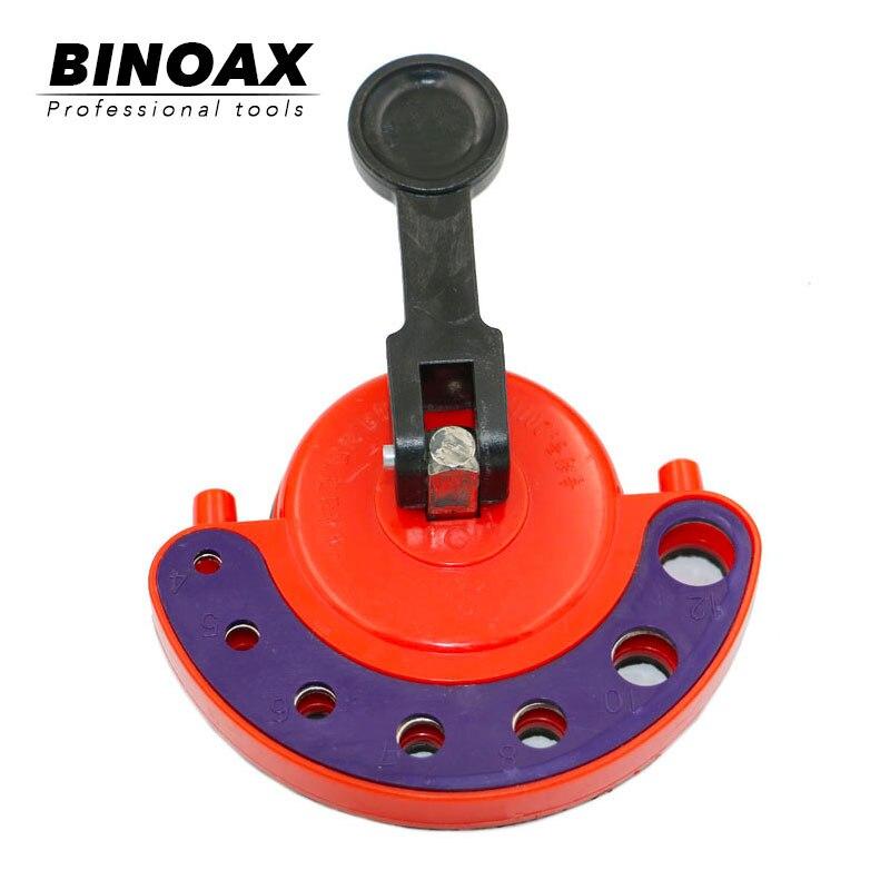 BINOAX 4-12mm Adjustable Diamond Drill Bit Tile Glass Hole Saw Core Bit Guide With Vacuum Base Sucker Tile Glass Opening Locator