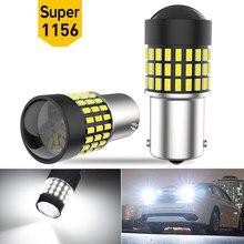 Комплект из 2 предметов, с can-bus светодиодный обратный светильник 1156 P21W BA15S T20 7443 W21/5 Вт для BMW e46 e90 e60 e39 e36 f10 f30 f20 f11 e87 x5 e70 e91 e34 e38