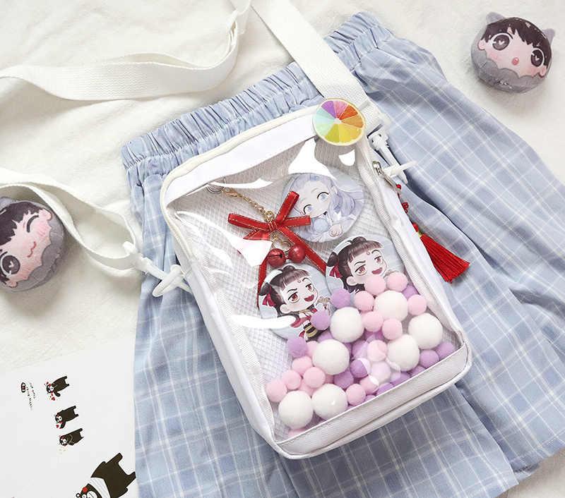 Harajuku kawaii mini mensageiro, japonês, doce, de ombro, ita, bolsa, anime, cosplay, de lona, show de bonecas