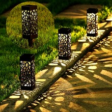 Led Solar Light Outdoor Waterproof Garden Decoration Lamp for Villa Pavilion Yard Gazebo Landscape Lamp 2 in 1 Buried Lawn Light