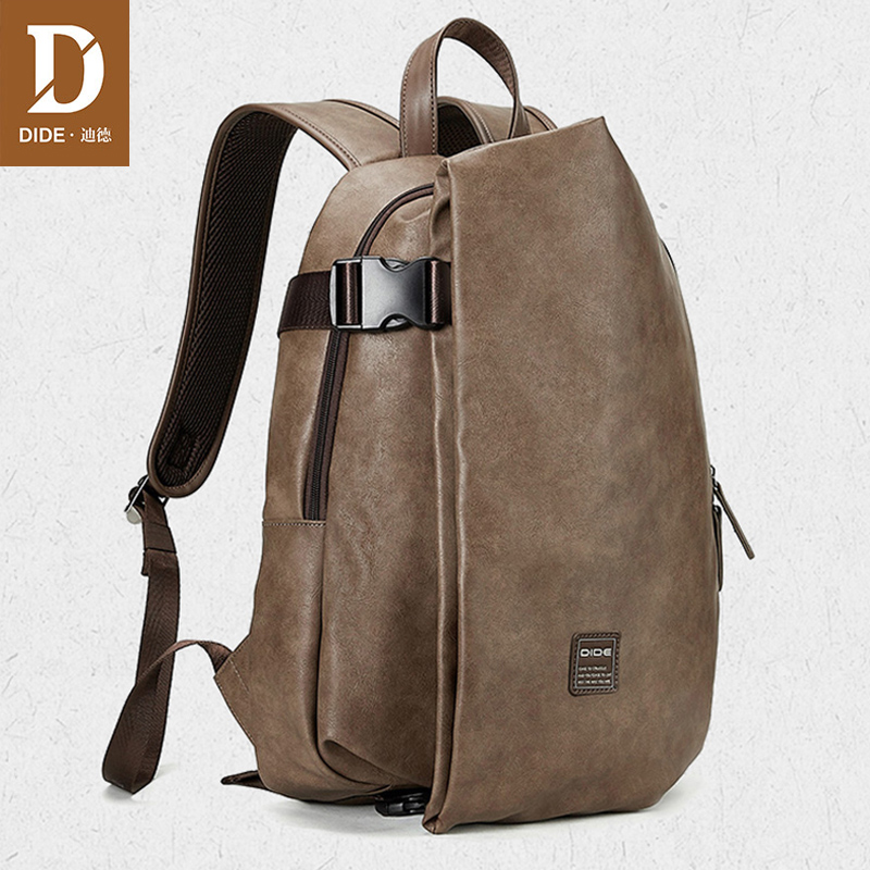 DIDE 2020 Men's Laptop Backpack Travel Waterproof USB Backpack Bag Male School Bags Bolsa Escolar Leather Men Backpack 15 Inch