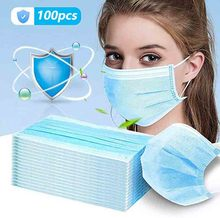 Dropship 100Pcs Disposable Anti Germ Medical Surgical Masks Medical Mask 3 Layer Face Mask Disposable Face Mask Dust Antiviral