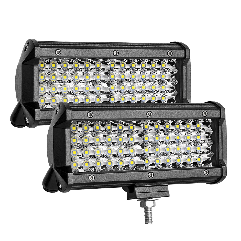 "1PC 144W 5/"" Inch LED Car Work Light Bar Spot Beam SUV Boat Driving Offroad Lamp"