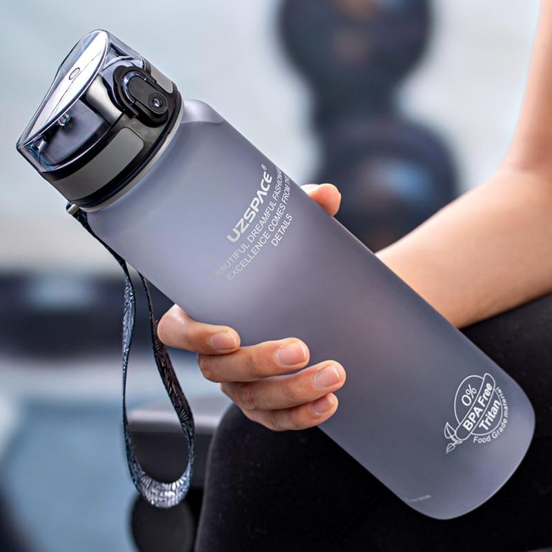 Высокое качество бутылка для воды 500 мл 1000 мл защита от утечки, без бпа Портативный для бутылки для напитков Спортивная экологически чистый