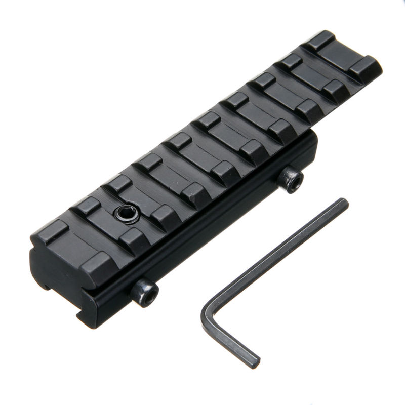 Hunting Accessories 11mm Dovetail Extend To 20mm 9 Slot Weaver Picatinny Adapter Rail Riser Mount