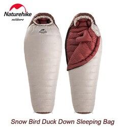 Naturehike -15℃ Winter Sleeping Bag Duck Down Warm Home Outdoor Camping Mummy Sleeping Bag 650FP Ultralight Portable Waterproof