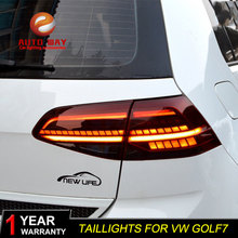 VW 골프 7 MK7 Golf7 Golf7.5 MK7.5 미등을위한 자동차 스타일링 테일 라이트 LED 테일 라이트 LED 리어 램프 테일 라이트 자동차